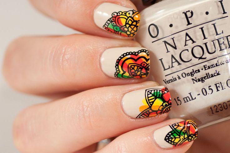 Autumn Pattern Nails