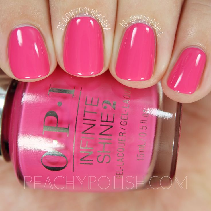 nails.quenalbertini: OPI Strawberry Margarita, Infinite Shine Iconic Collection | Peachy Polish