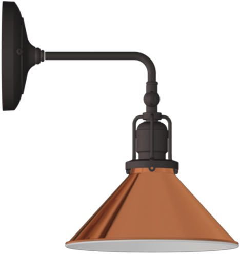 grandview single qs oilrubbed bronze 8in copper reflector cone shade a7042