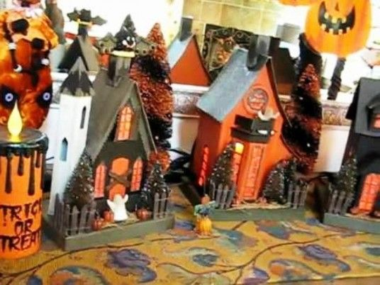 Halloween indoor halloween pumpkin pinterest for How to make homemade halloween decorations for inside