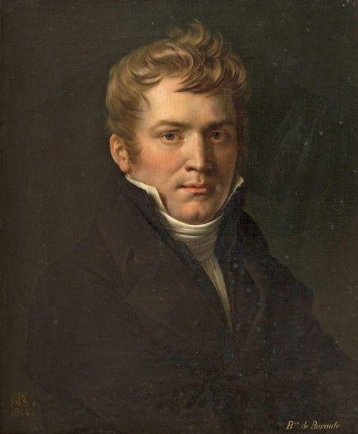 Anne-Louis Girodet de Roucy-Trioson (1767-1824), Portrait du baron Prosper de Barante (1782-1866), 1814, toile, 61 x 51 cm. Adjugé : 77 440 € Clermont-Ferrand, samedi 5 novembre. Anaf-Jalenques-Martinon-Vassy OVV. MM. Delmas, Dey, Eyraud, Cabinet de Bayser, Cabinet Turquin.