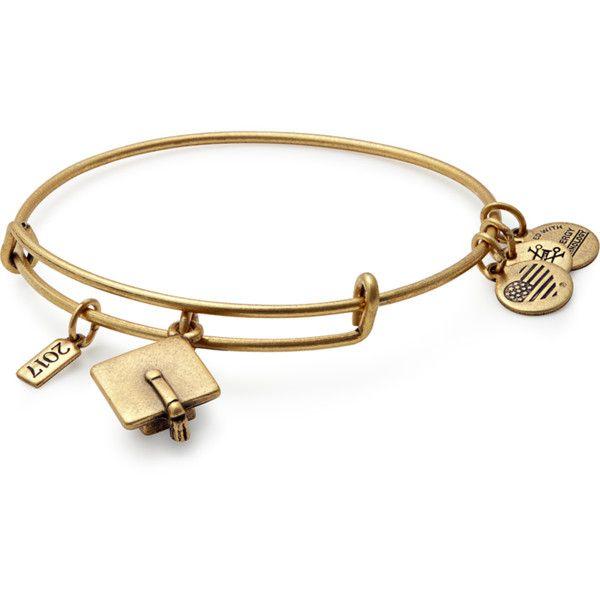 2017 Graduation Bracelets | Cap Charm | ALEX AND ANI (37 AUD) ❤ liked on Polyvore featuring jewelry, bracelets, bangle charms, bangle jewelry, hinged bracelet, graduation jewelry and bangle bracelet