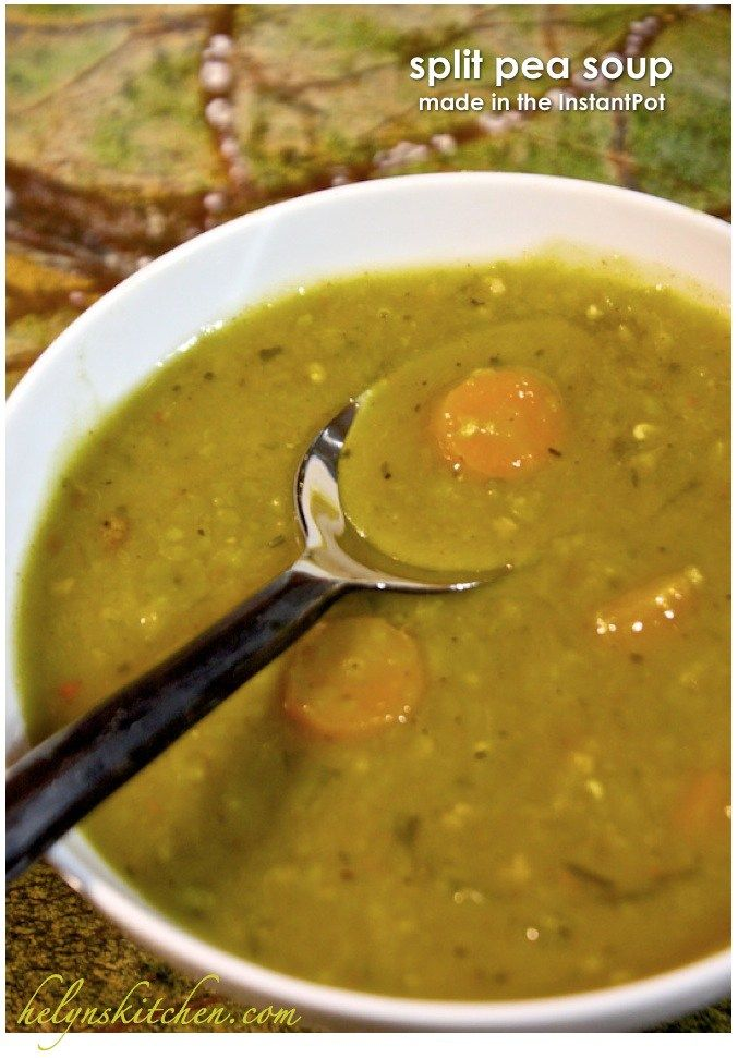Split pea soup made in Instant Pot pressure cooker