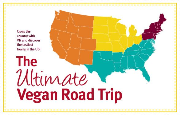 the ultimate vegan road trip in the US (list of vegan restaurants)