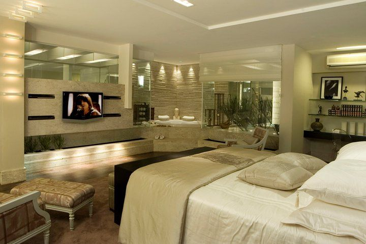 banheiro integrado com quarto  Pesquisa Google  Banheiro suíte master  Pin -> Quarto Com Banheiro Pequeno Integrado