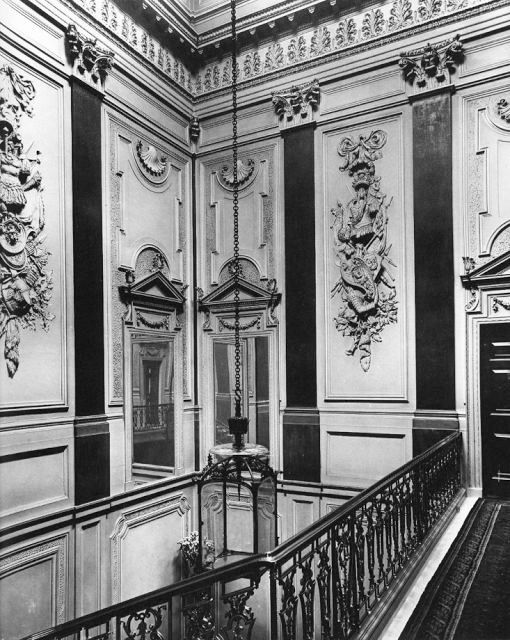 The upper staircase, Norfolk House, London