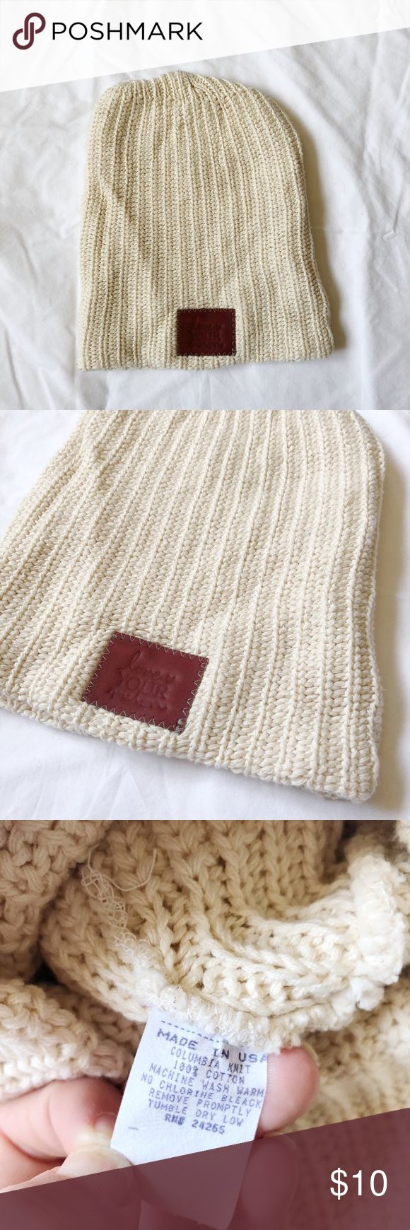 Love Your Melon Cream Beanie Love Your Melon Beanie In cream color. Just don't wear this color and in great condition! Love Your Melon Accessories Hats