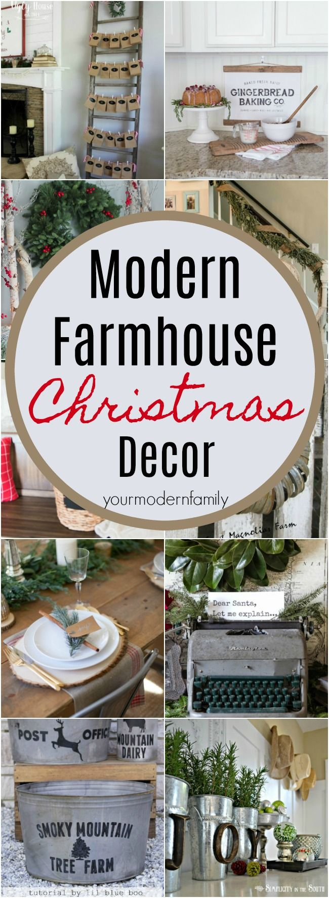 These are THE BEST Modern Farmhouse Christmas Decor ideas I've found online.    The Fixer Upper Style Christmas staircases, Rustic Christmas living rooms, and an all-over Modern Farmhouse look are so cozy, calm and welcoming ... #FarmhouseChristmas #FixerUpper #JoannaGaines #ChristmasDecor  via @BeckyMans