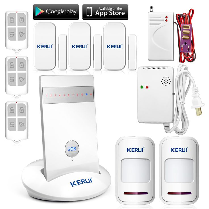 113.70$  Watch now  - IOS Android/iPhone APP Controlled KR-G15 Wireless Alarm Systems Security Home Burglar Alarm System with GSM Gas Detector