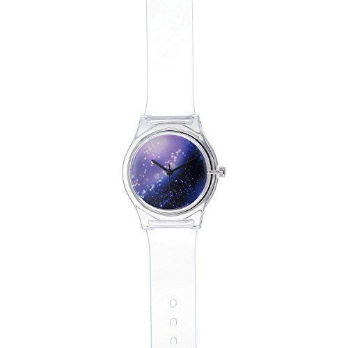 VIKI LYNN Lila Himmel Uhr mit durchsichtig Gummi Armband - http://uhr.haus/viki-lynn/viki-lynn-lila-himmel-uhr-mit-durchsichtig-gummi