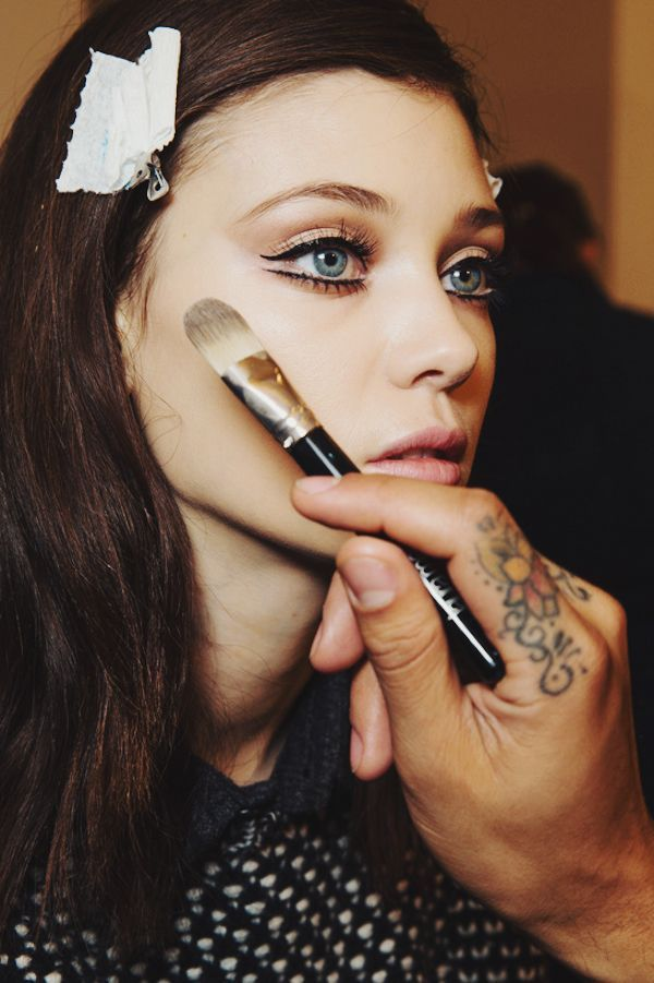 liquid liner on top and bottom