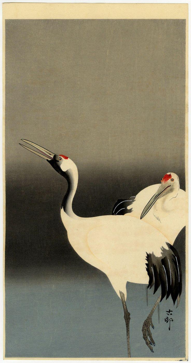 Ohara Koson - Emperor Cranes, 1930s