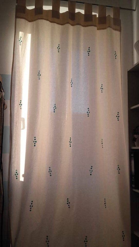 One Piece Hand Made By Order Raw Cotton Curtain With Original Hand