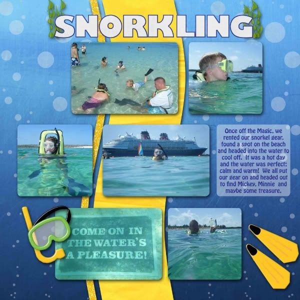 snorkeling scrapbook layout - Google Search
