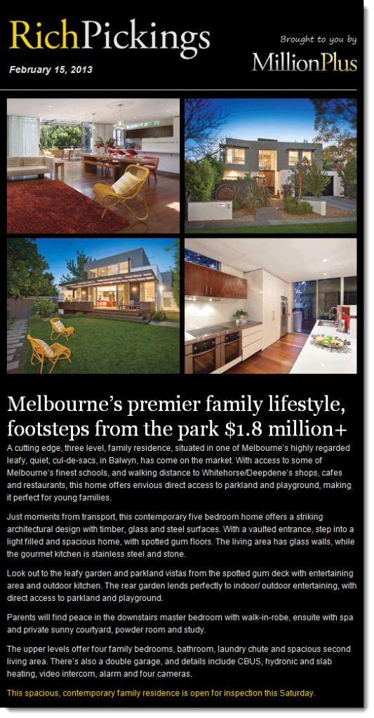 Just added Balwyn House as a premium featured property on Rick Pickings. http://www.balwyn-real-estate.com.au/balwyn-house-featured/