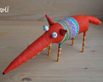 playful fox von MarLitoys auf Etsy