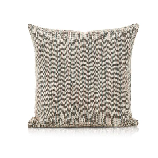 This contemporary cushion boasts an appealing pastel palette of salmons, blues, creams and green. The geometric pattern faintly resembles the beautiful feathers of a bird. This designer cushion is part of our Infinity collection, designed to mix and match with any other cushion within the collection, giving you endless creativity to style your unique space. …