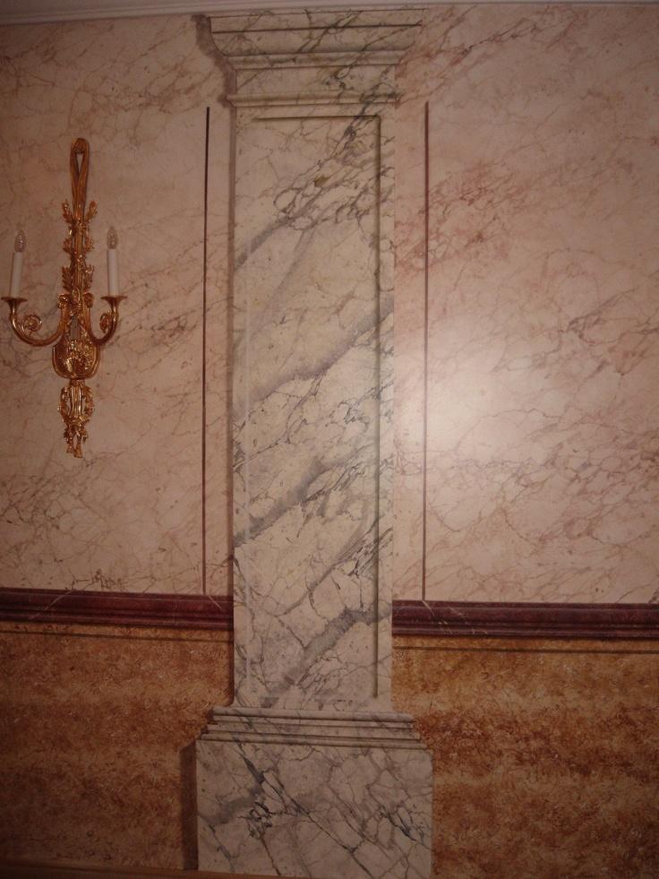 Falsas molduras imitaci n m rmol sala del ayuntamiento de - Molduras de marmol ...