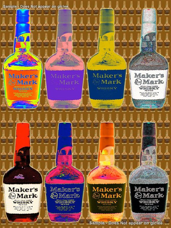 MAKERS MARK WHISKY  large pop art poster print   Free by Murray Eisner $28.00