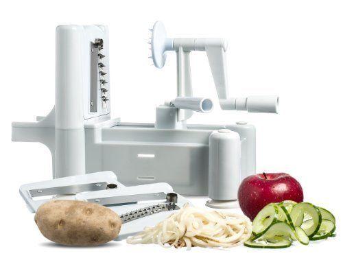 Spiral Vegetable Slicer Spiralizer Veggie Pasta Maker Fruit Chopper Kitchen Tool #ClearMax