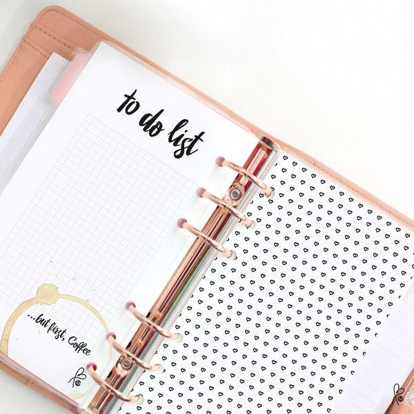 Taschenkalender - To do list / Filofax Personal / Printable - ein Designerstück von sppiy bei DaWanda