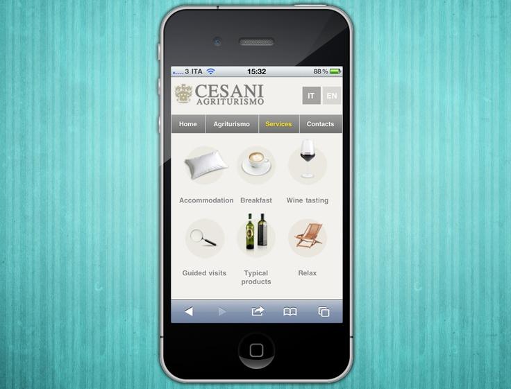 Mobile site Agriturismo Cesani