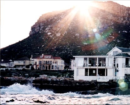 Kalk Bay from the sea, Cape Town.