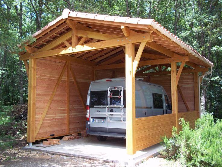 Image result for plan carport bois pour camping car Abri