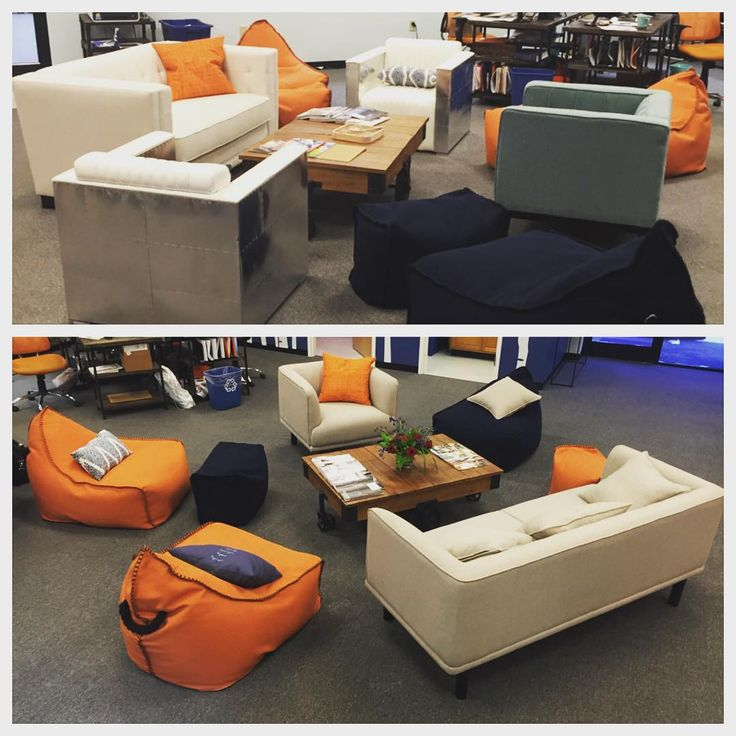 On this #transformationtuesday our office got a facelift in the form of the Milan #Chair and #Sectional from Fresh, but we kept the Bodhi Bean Bag chairs, of course! #upgrade #sofresh #furniture #modern #sofakingcool #freshoffice #officefurniture #hpmkt #interiordesign #decor