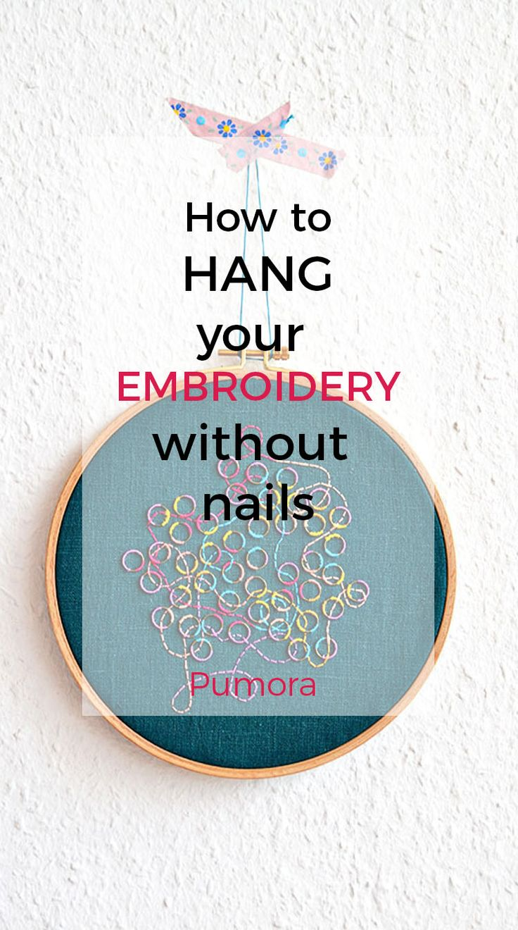 74 best pumora blog images on pinterest embroidery hoops how to hang your embroidery without nails ccuart Choice Image