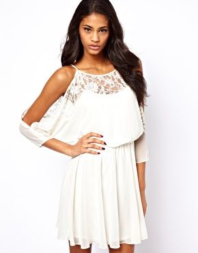ASOS Lace Dress with Cold Shoulder