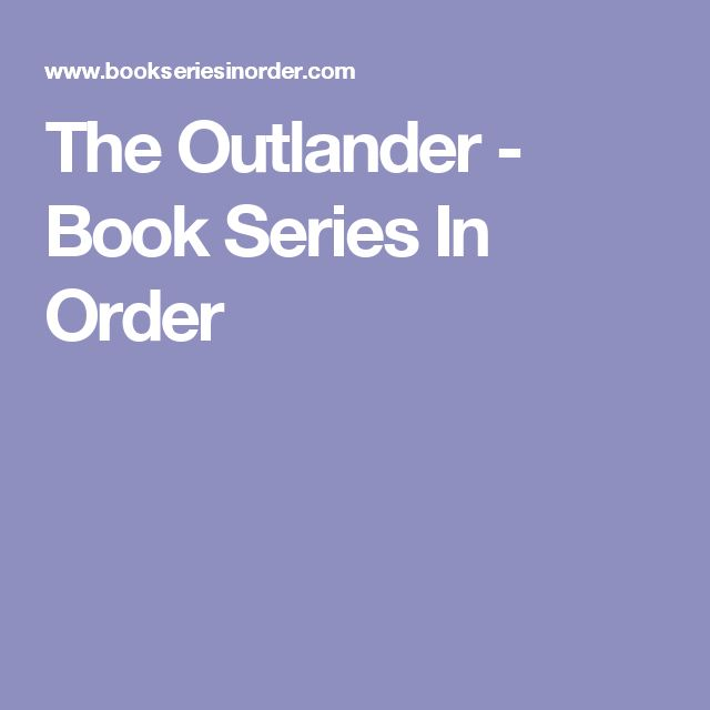 The Outlander - Book Series In Order