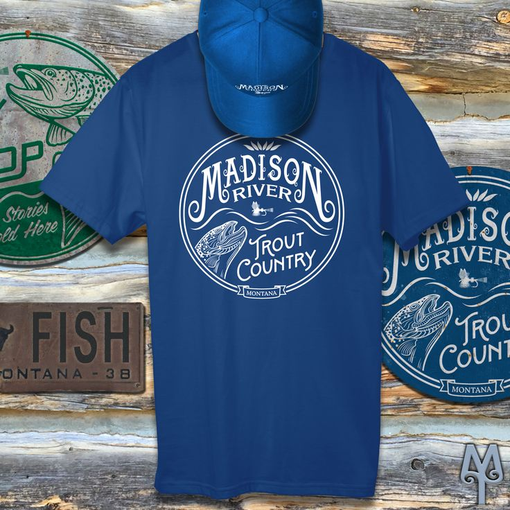 Montana Fly Fishing Apparel and Cabin Decor  Who can't wait for Fall fishing on the lower Madison? Before you know it the browns will be running...good times!  Shop for authentic fly fishing apparel and cabin decor from the State of Montana and relive fond memories of your trip to Big Sky Country...like that time you went fly fishing on the famed Madison River.