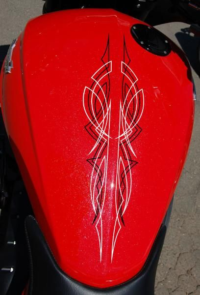Old School Victory Cross Country Tour custom pinstripe decal kit