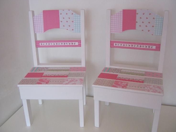 Mesa y sillitas de madera para ni os infantiles shabby for Sillas para chicos