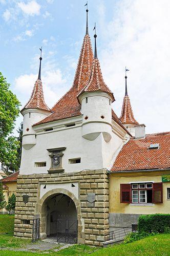 Catherine's Gate (built in 1559), Brasov, Romania, www.romaniasfriends.com