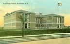 """Old West High School, Rochester (108 visits) """"West High School, Rochester, N. Y."""" Postmarked 1920 Flower City Series No number Made in U.S.A."""