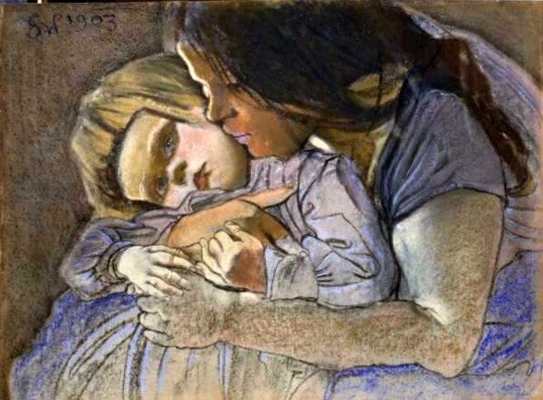 Maternity - Stanislaw Wispianski (1869-1907)