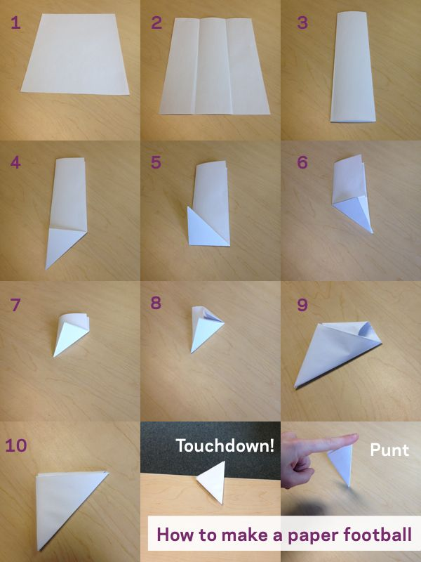 I always loved paper football. Six Football-Themed Games for Kids to Play from Playworks