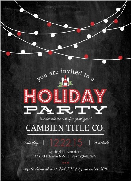 18 Best Office Christmas Party Invitation Wording Amp Ideas