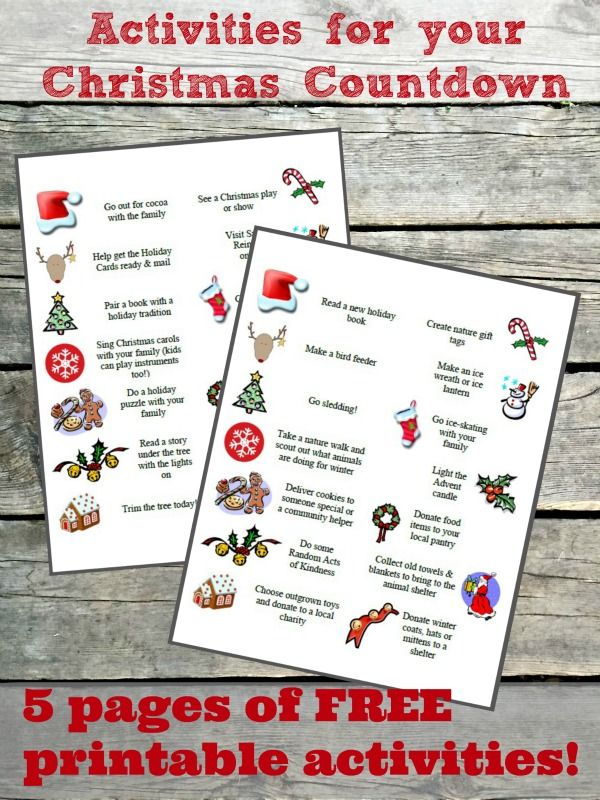 Make December a month of fun & family with these 100 FREE printable Advent Activities! Download this set of activities from Edventures with Kids and f