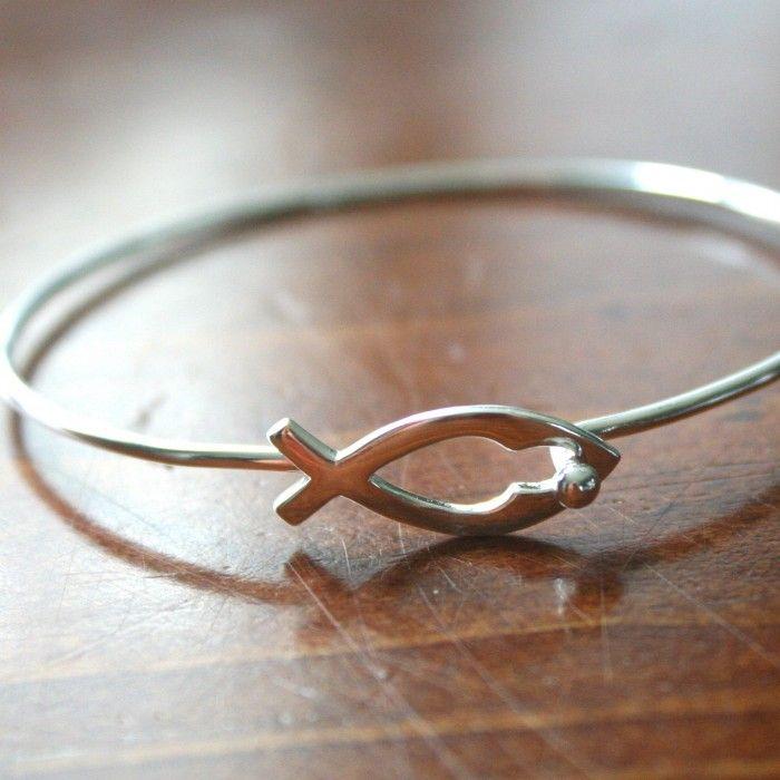 Christian Fish Symbol Jesus Ichthus Bracelet