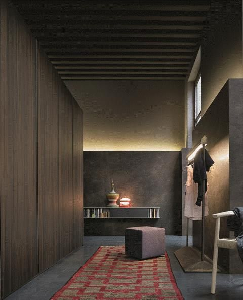 POLIFORM: Senzafine Stratus wardrobe, Play pouf, Tokyo chair and Skip wall mounted shelves
