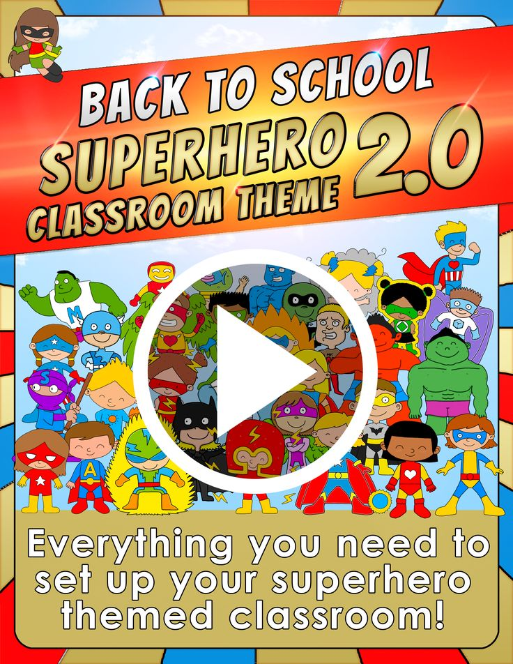 Back to School - Superhero Classroom Theme 2.0 Everything you need to set up your superhero themed classroom!  Get this set here! https://www.teacherspayteachers.com/Product/Back-to-School-SUPERHERO-CLASSROOM-THEME-20-1840770    $
