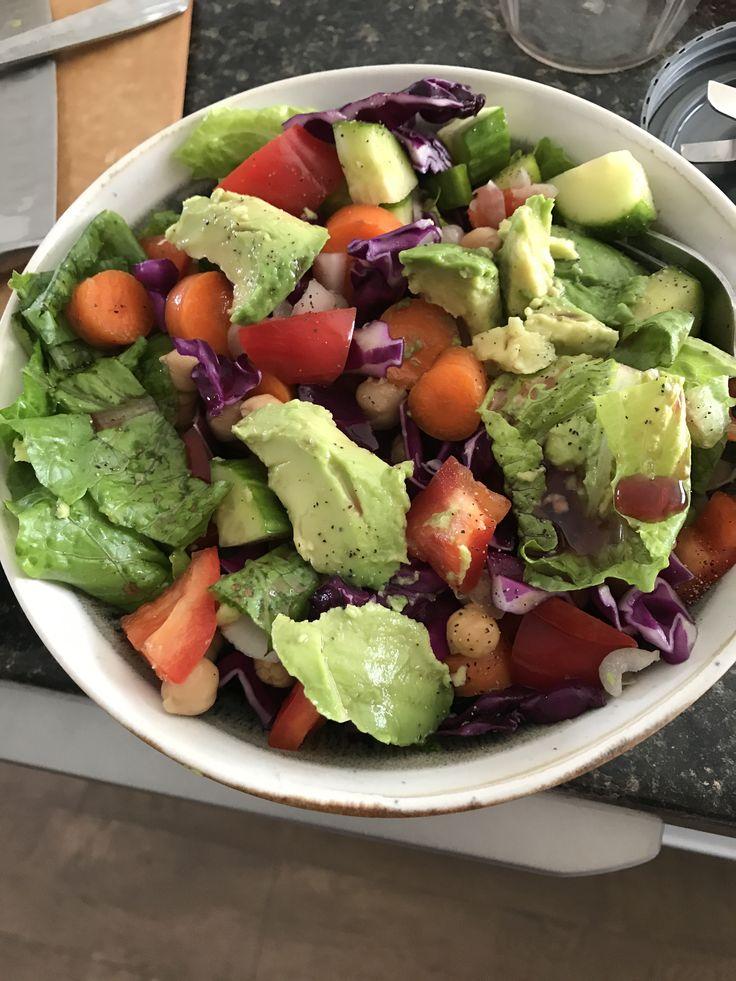 Chickpea salad. #salad #chickpeas