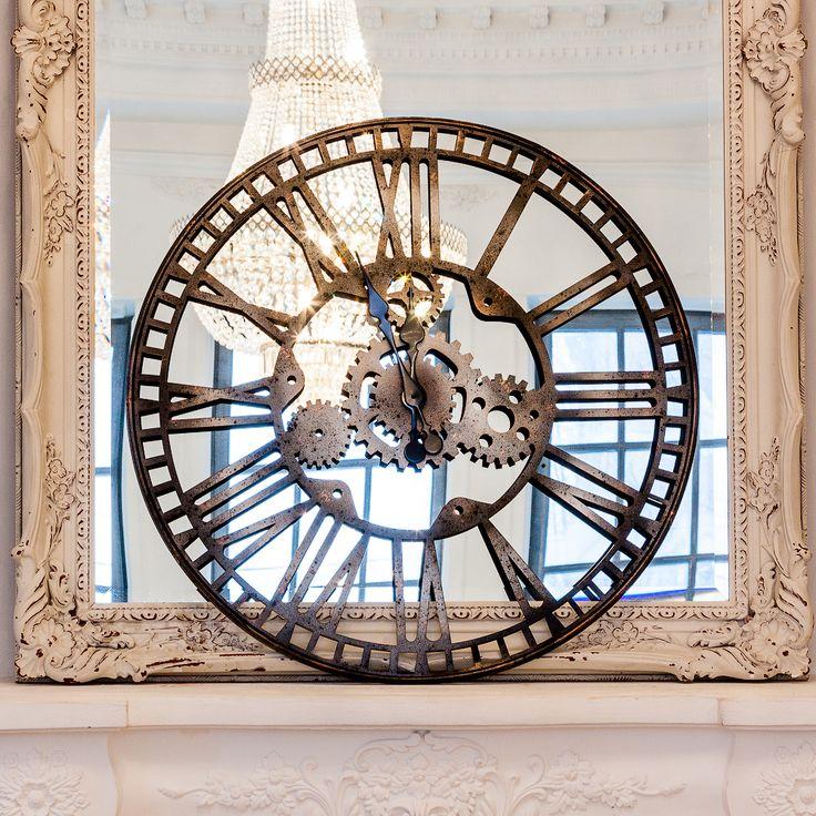 Дизайн этих часов придется по душе ценителям европейской культуры и путешественникам. Франция, Париж, Сен-Лазар. На площади этого вокзала даже установлен забавный монумент, прославляющий знаменитые башенные часы. Теперь их модернизированный, но по-прежнему роскошный, образ готов украсить стены Вашего дома. #часы, #декор, #интерьер, #французскийстиль, #wallclock, #watch, #clock, #frenchstyle, #decor, #interior, #objectmechty