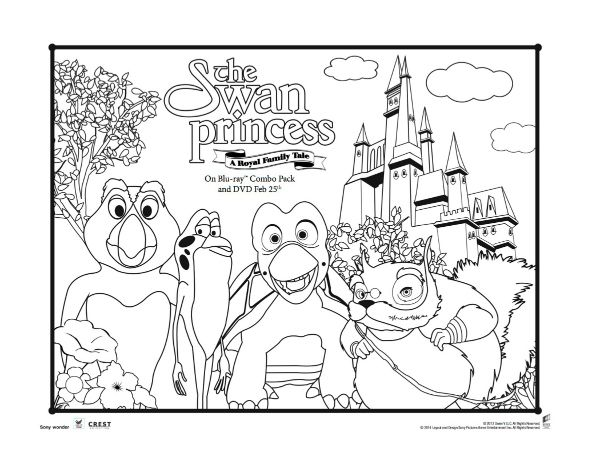 The Swan Princess A Royal Family Tale Printable Coloring Page