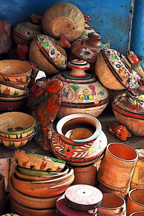 Pottery Design at Bhit Shah Shrine, Sindh, Pakistan