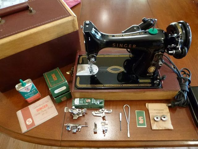 Singer 99-31 Sewing Machine  I just aquired one of these. Mine is missing all the fancy attachments, but what a beauty!