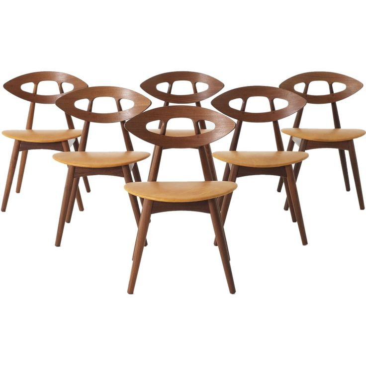 Set of 6 'Eye' chairs by Ejvind A. Johansson - Denmark